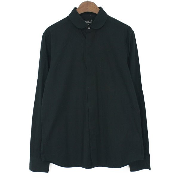 Agnes b Homme Round Collar Cotton Shirts