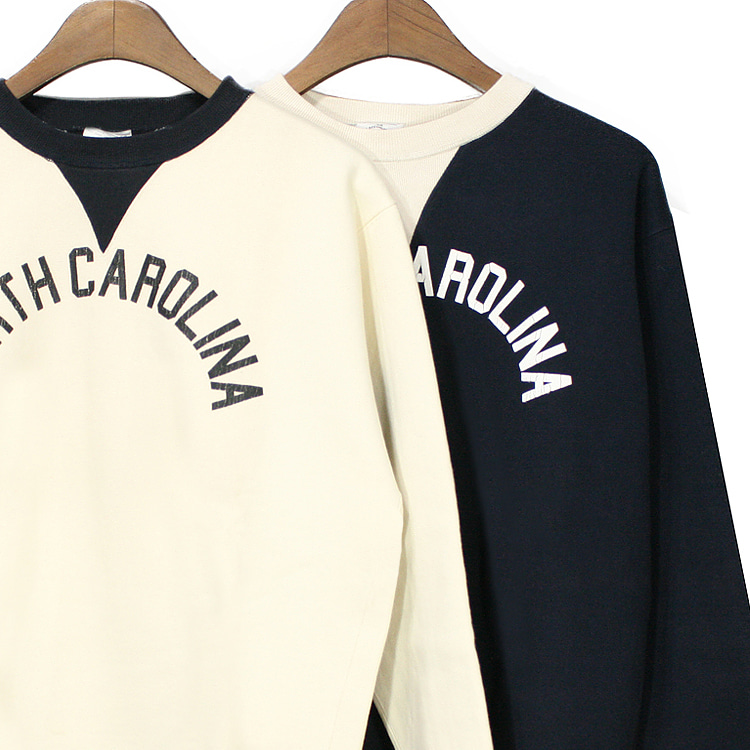 N.C Crack Printing Sweatshirt - 2 Color